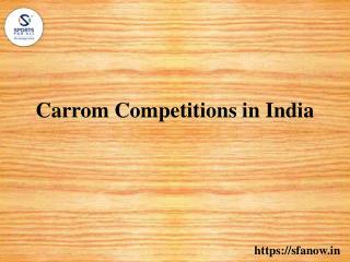 Carrom Tournament At SFA Now