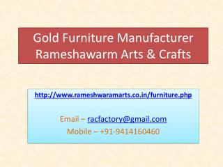 Gold furniture manufacturer