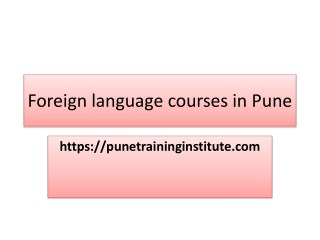 Foreign Language Courses - Classes in Pune |Pune Training Institute