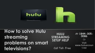 Manage Hulu Device Call (TOLL-FREE)1844-305-0086