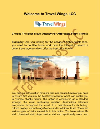 Cheap hotel packages at www.travelwingsusa