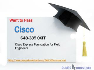 Cisco 648-385 PDF | 2017 Free Cisco Real Exam Dumps Download