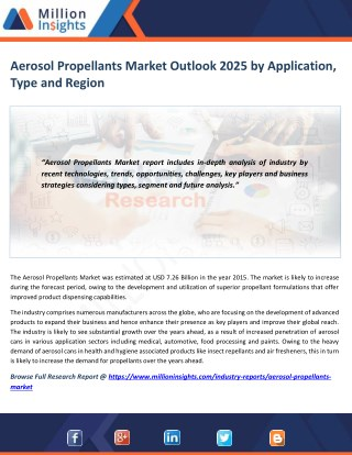 Aerosol Propellants Market Analysis by Growth Rate and Trends with Forecast to 2025
