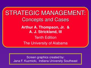Screen graphics created by: Jana F. Kuzmicki,  Indiana University Southeast