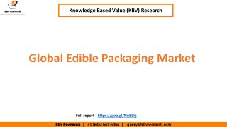 Global Edible Packaging Market Growth