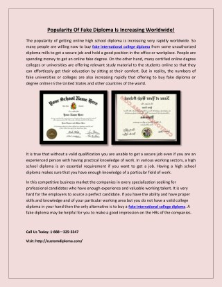 Fake US University Certificates