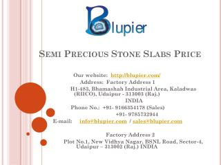 Semi Precious Stone Slabs Price
