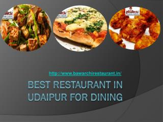 Best Restaurant in Udaipur for Dining