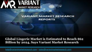 Global Lingerie Market is Estimated to Reach $62 Billion by 2024, Says Variant Market Research
