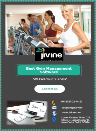 Best Gym Management Software | Let's Manage your Fitness Studio with Jivine