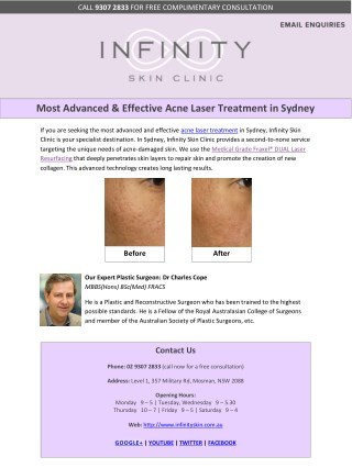 Most Advanced & Effective Acne Laser Treatment in Sydney