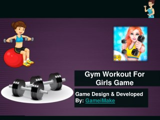 Gym Workout For Girls Game