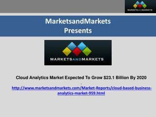 Cloud Analytics Market Expected To Grow $23.1 Billion By 2020