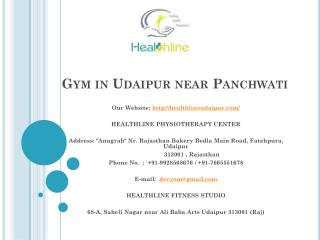 Gym in udaipur near panchwati