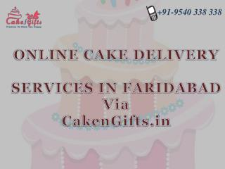 Online cake delivery services in Faridabad