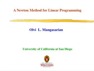 A Newton Method for Linear Programming