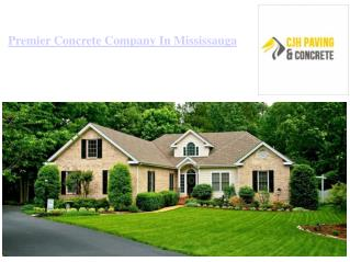 Premier Concrete Company Mississauga Offering Quality Services