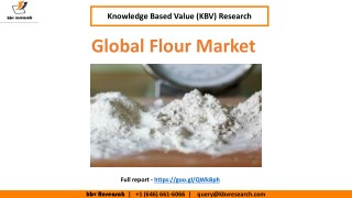 Global Flour Market Trend