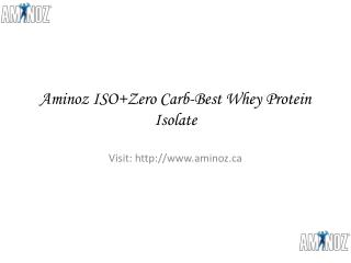 Best Whey Protein Isolate