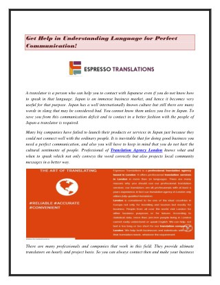 Get Help in Understanding Language for Perfect Communication!