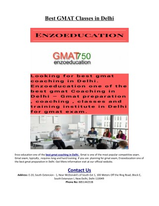 Best Online Coaching For Gmat