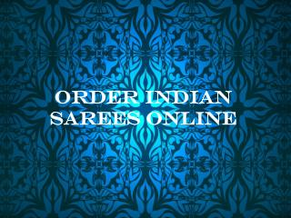 Order Indian Sarees Online