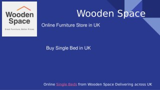 Buy Designer-Made Single Bed from Wooden Space