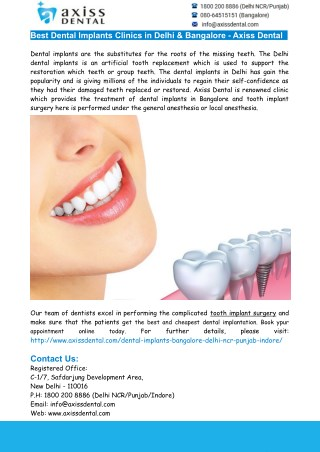 Delhi Dental Implants- Best Dental Implants Clinic in Delhi