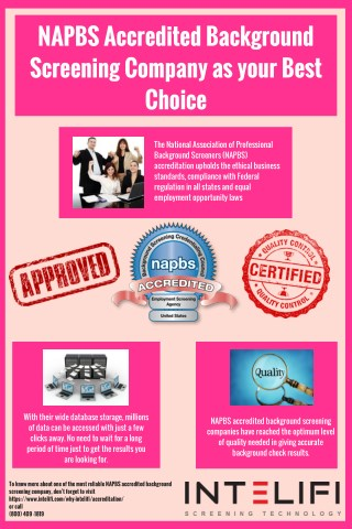 NAPBS Accredited Background Screening Company as your Best Choice