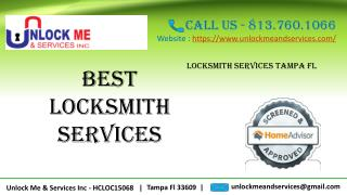 Hire the Best Services of Locksmith in Tampa FL