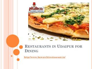 Restaurants in Udaipur for Dining