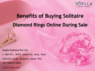 Benefits of Buying Solitaire Diamond Rings Online During Sale