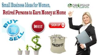 Small Business Ideas for Women, Retired Persons to Earn Money at Home