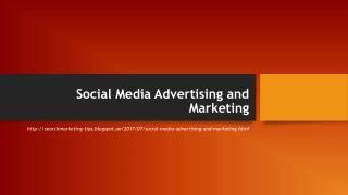 Social Media Advertising and Marketing
