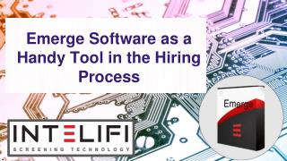 Emerge Software as a Handy Tool in the Hiring Process