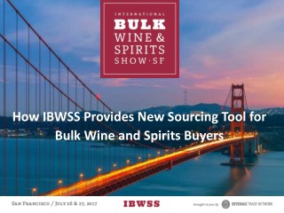 How IBWSS Provides New Sourcing Tool for Bulk Wine and Spirits Buyers