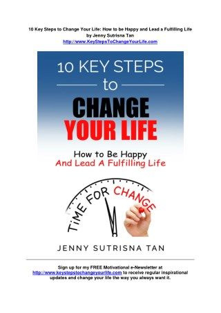 10 Key Steps to Change Your Life