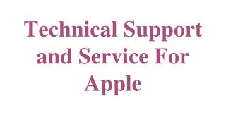 Technical Support and Service For Apple