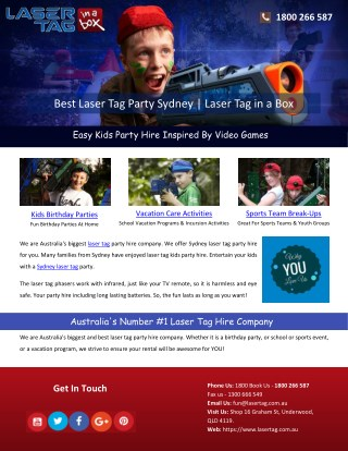 Best Laser Tag Party Sydney | Laser Tag in a Box