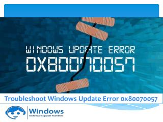 Troubleshoot Windows Update Error 0x80070057