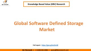 Global Software Defined Storage Market Growth