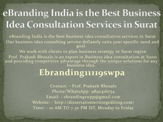 eBranding India is the Best Business Idea Consultation Services in Surat
