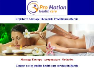 Registered Massage Therapists Team Barrie