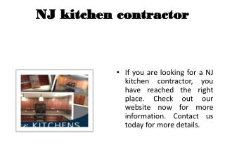 Custom Kitchen remodel NJ