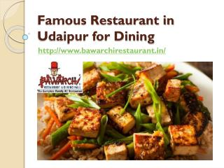 Famous Restaurant in Udaipur for Dining