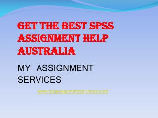 Get SPSS Assignment Help by Professional Experts