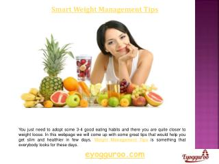 Diet & Weight Management