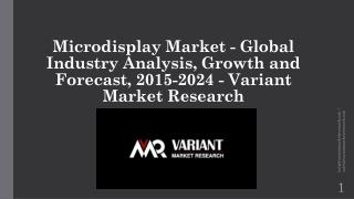 Microdisplay Market Size, Share, Growth, Trends and Forecast, 2017-2021 by Variant Market Research