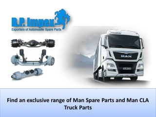 Largest quality collection Man Truck Parts