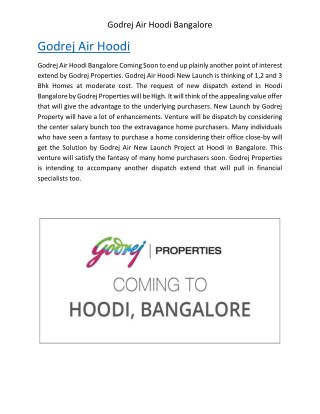 Godrej Air Hoodi Circle whitefield | Bangalore